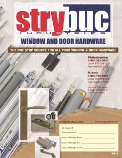 Hardware Catalog From Strybuc Industries Window Amp Door