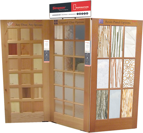 Simpson Invests In Its Dealers Showrooms By Offering Multiple Stands Or  Systems For Setting Up Door Displays As Well As The Ability To Customize  Display ...