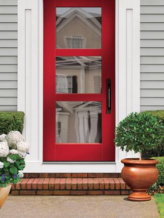 Flush Glazed Fiberglass Door By Tru Tech Doors Window Door